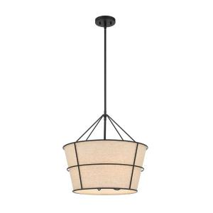 Mantello - 4 Light Pendant in Transitional Farmhouse Style - 2.25 Inches Wide by 19.5 Inches High