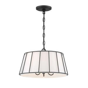 Adelaide - 3 Light Pendant in Transitional Traditional Style - 16 Inches Wide by 8.75 Inches High