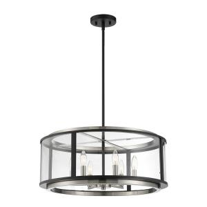 Tambouro - 6 Light Pendant in Transitional Modern Style - 24 Inches Wide by 11 Inches High