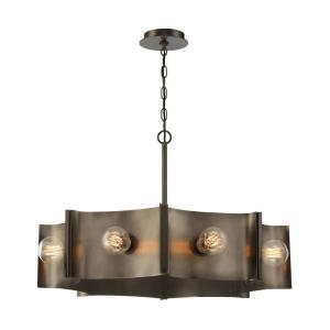 Metallo - 8 Light Chandelier in Transitional Style - 30 Inches Wide by 19.25 Inches High