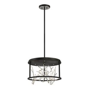 Aerie - 24W 4 LED Round Chandelier in Transitional Style - 19 Inches Wide by 12.5 Inches High