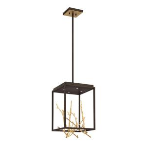 Aerie - 24W 4 LED Square Chandelier in Transitional Style - 12.5 Inches Wide by 18.75 Inches High