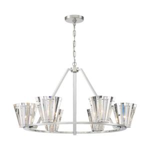 Ricca - 6 Light Chandelier in Posh & Luxe Glam Style - 37.75 Inches Wide by 21.25 Inches High