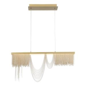 Tenda - 48W LED Chandelier in Posh & Luxe Glam Style - 2.75 Inches Wide by 16.5 Inches High