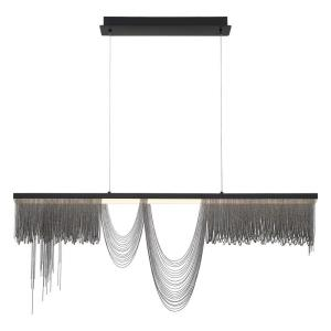 Tenda - 60W LED Large Chandelier in Posh & Luxe Glam Style - 2.75 Inches Wide by 18.5 Inches High