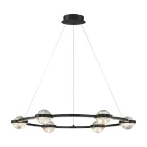 Circolo - 34W 6 LED Chandelier in Contemporary Modern Style - 35.5 Inches Wide by 4 Inches High