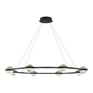 Circolo - 48W 8 LED Chandelier in Contemporary Modern Style - 47.5 Inches Wide by 4 Inches High