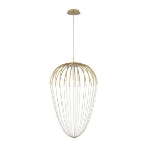 Frusta - 22.5W 5 LED Pendant in Scandinavian Transitional Style - 2 Inches Wide by 34.5 Inches High