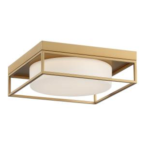 Rover - 24W LED Small Flush Mount in Minimalist Modern Style - 12 Inches Wide by 4 Inches High