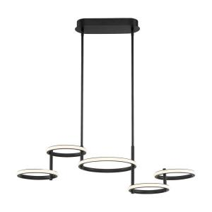 Giro - 66W 5 LED Chandelier in Minimalist Industrial Style - 12.25 Inches Wide by 9.75 Inches High