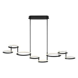 Giro - 115W 8 LED Chandelier in Minimalist Industrial Style - 13.5 Inches Wide by 13 Inches High