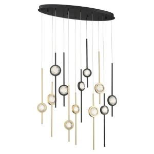 Barletta - 68W 12 LED Chandelier in Posh & Luxe Modern Style - 12 Inches Wide by 23.5 Inches High