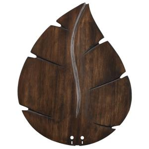 Accessory - 22 Inch Wide Oval Leaf Carved Wood Blades