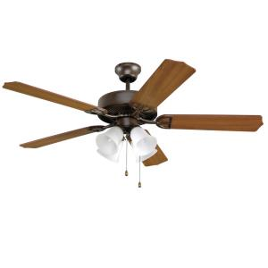 5 Blade 52 Inch Ceiling Fan with Pull Chain Control and Optional Light Kit