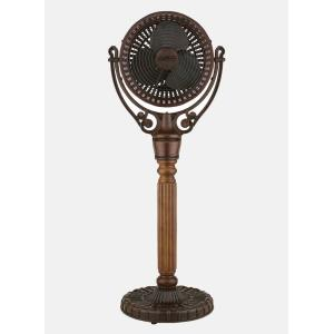 Old Havana - 49.7 Inch Post Column and Pedestal Base Fan