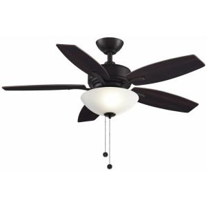 Aire Deluxe 5 Blade 44 Inch Ceiling Fan with Pull Chain Control and Includes Light Kit