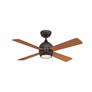 Kwad 4 Blade 44 Inch Ceiling Fan with Handheld Control and Includes Light Kit