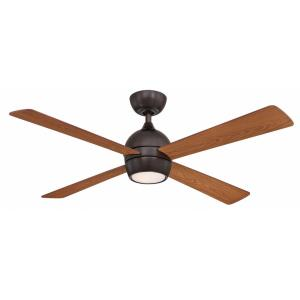 Kwad 4 Blade 52 Inch Ceiling Fan with Handheld Control and Includes Light Kit