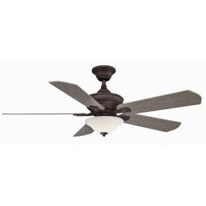 "Camhaven V2 - 52"" Ceiling Fan with Bowl Light Kit"