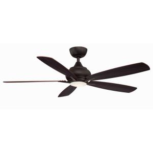 Doren 5 Blade 52 Inch Ceiling Fan with Handheld Control and Includes Light Kit