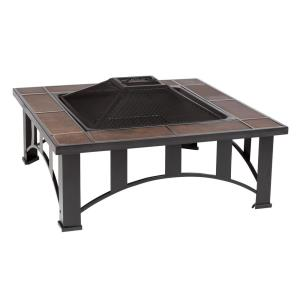 "Tuscan Tile - 34""  Mission Style Square Fire Pit"