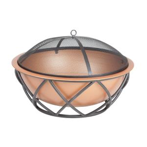 "Barzelonia - 26"" Round Copper Look Fire Pit"