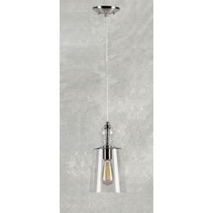 "11"" One Light Cord-Hung Glass Mini Pendant"