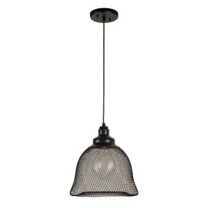 "12"" One Light Industrial Cage Pendant"