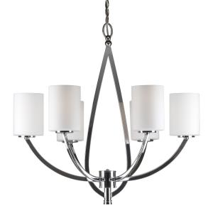 "26"" Six Light Chandelier"