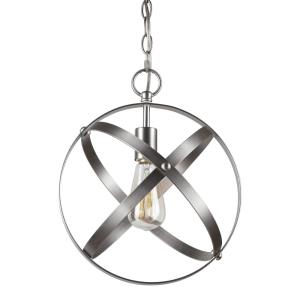 One Light Strap Globe Pendant