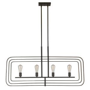Four Light Linear Chandelier