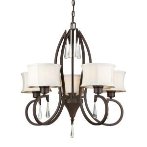 "24"" Five Light Chandelier"