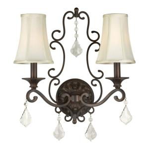 "16"" Two Light Wall Sconce"