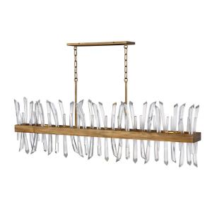 Revel-Six Light Linear Oval Chandelier in Modern Style-55.5 Inches Wide by 14.5 Inches Tall