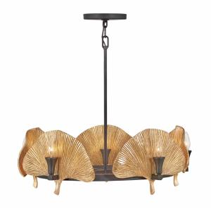 Cera-Ten Light Medium Chandelier in Transitional Style-28 Inches Wide by 15.75 Inches Tall