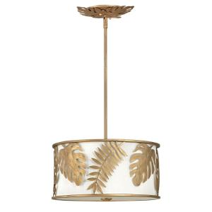 Botanica - Three Light Medium Drum Pendant