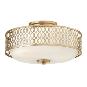 Jules - 3 Light Transitional Medium Semi-Flush Mount Light with Stamped Oval Design