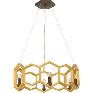 Moxie - 22 Inch Six Light Chandelier