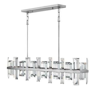 Odette - Eight Light Stem Hung Linear Chandelier