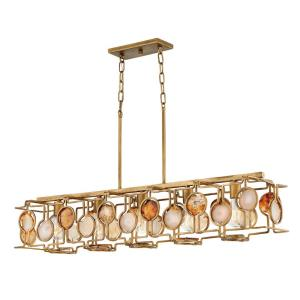 Lucia - Five Light Linear Chandelier