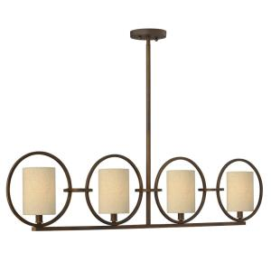Pandora - Four Light Linear Chandelier