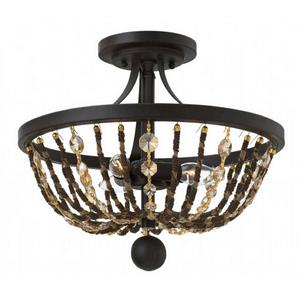 Hamlet - Three Light Semi-Flush Mount