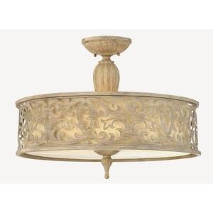 Carabel - Three Light Large Semi-Flush Mount