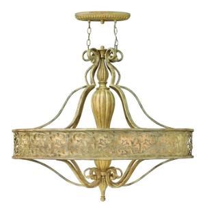 Carabel - Six Light Oval Chandelier