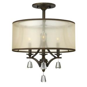 Mime - Three Light Semi-Flush Mount