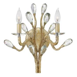 Eve - 2 Light Organic Wall Sconce with Clear Crystal and Metal