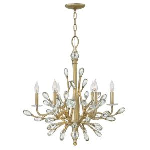 Eve - 6 Light Medium Organic Chandelier with Clear Crystal and Metal
