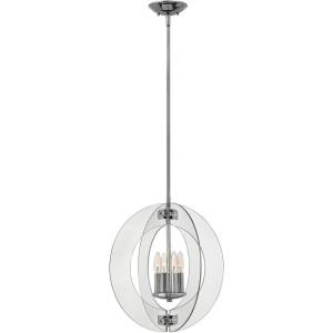 "Solstice - 18.75"" Four Light Chandelier"