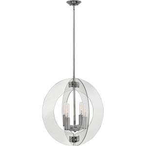 "Solstice - 24.75"" Four Light Chandelier"