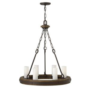 "Cabot - 24"" Six Light Chandelier"